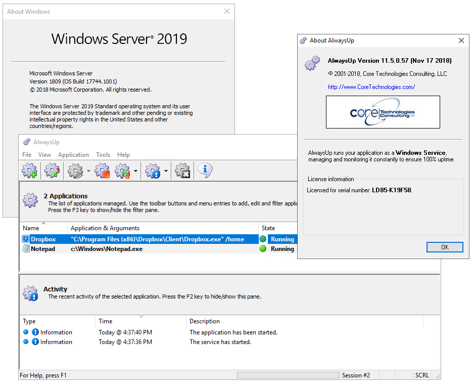 Small Improvements for Windows Server 2019