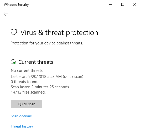 Windows Threat Protection