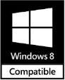 Windows 8 Compatible (32 & 64-bit)