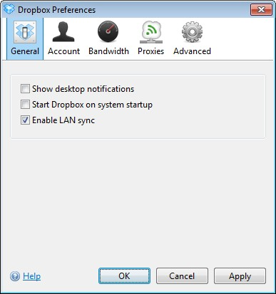 Prepare Dropbox to run as a Windows Service
