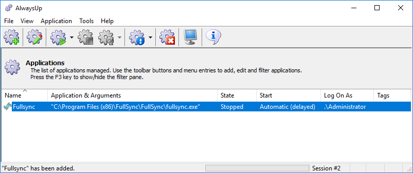 FullSync Windows Service: Created