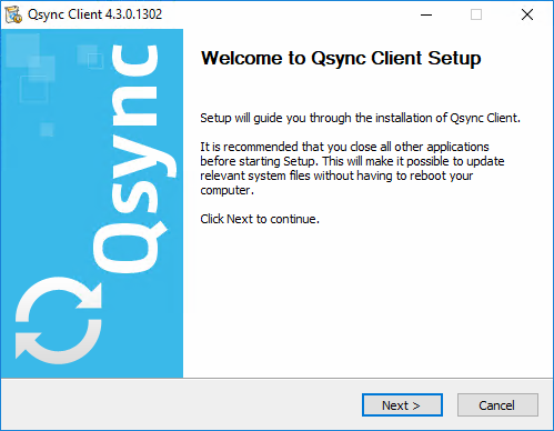 How to install QNAP Qsync as a Windows 2016/10/2012/8/2008/7 Service