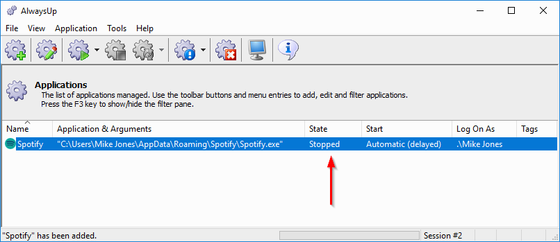 Spotify Windows Service: Created